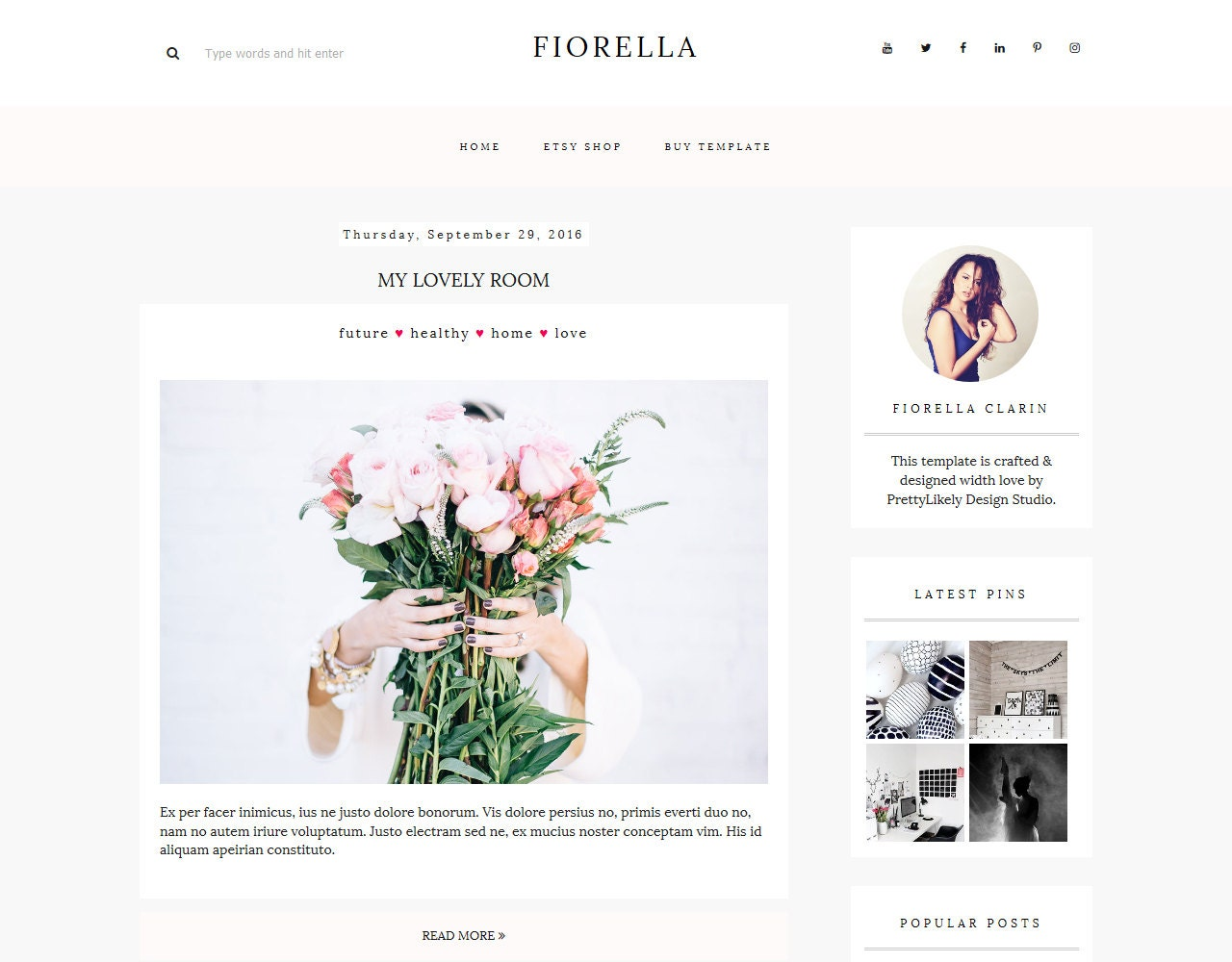 Blogger Template Responsive Blogger Theme Premade Blogger