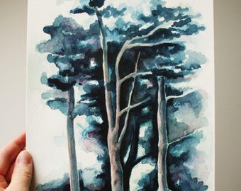 Woodland - an original watercolour painting