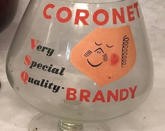 Mid-Century Vintage Distillery Memorabilia- Coronet Brandy Giant Sniffer