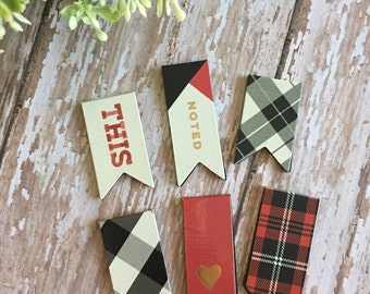 Magnetic Paperclips  (Plaid Collection)