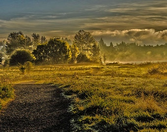 Landscape HDR image, sunrise photo, nature photography, outdoor art