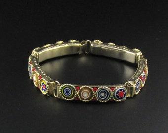 Millefiori Bracelet, Italian Bracelet, Colorful Bracelet, Mosaic Bracelet, Venetian Bracelet, Murano Glass Bracelet