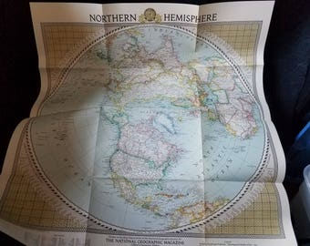 1946 National Geographic Map of the Northern Hemisphere