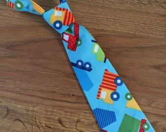 Little Boy Necktie ~ Trucks ~ Handmade Necktie Tie