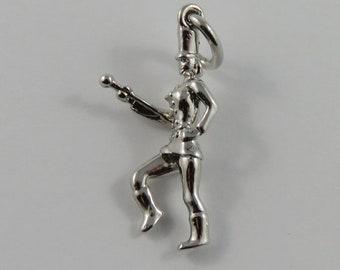 Drum Major-Marching Band Leader Sterling Silver Vintage Charm For Bracelet