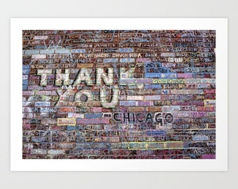 Chicago Cubs World Series Champions Wall Art @ Wrigley Field 'Thank you' by Noriko Aizawa Buckles | art print | tote bag