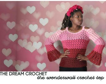 The Wonderwall Crochet Top Pattern. Instant Download!