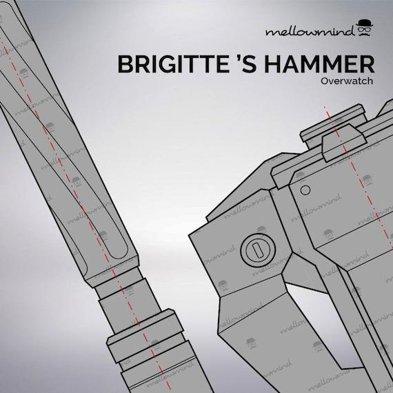 Overwatch brigitte lindholm hammer blueprint 11 scale de overwatch brigitte lindholm hammer blueprint 11 scale de mellowmindcosplay en etsy studio malvernweather Image collections