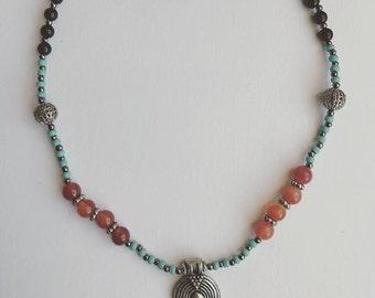SALE Fire Agate Necklace