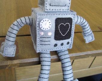Happy Felt Robot (made to order)