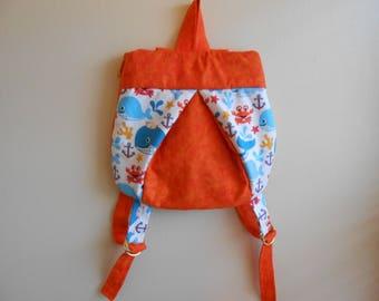 Small whale ladybug backpack