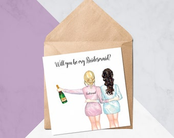 Will You Be My Bridesmaid? // Will You Be My Bridesmaid Cards // Wedding Cards // Greeting Card #283