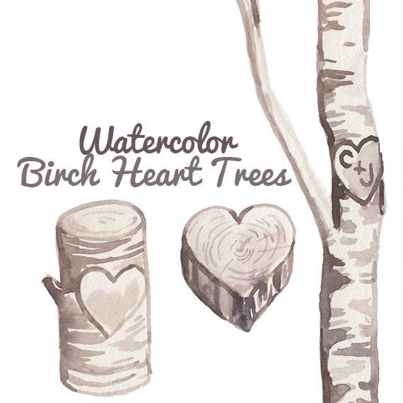 Wedding Tree Watercolor Clipart