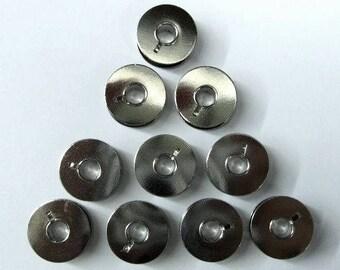 Metal Bobbins #530761 For Bernina 730, 830 Sewing Machines - 10 Pack