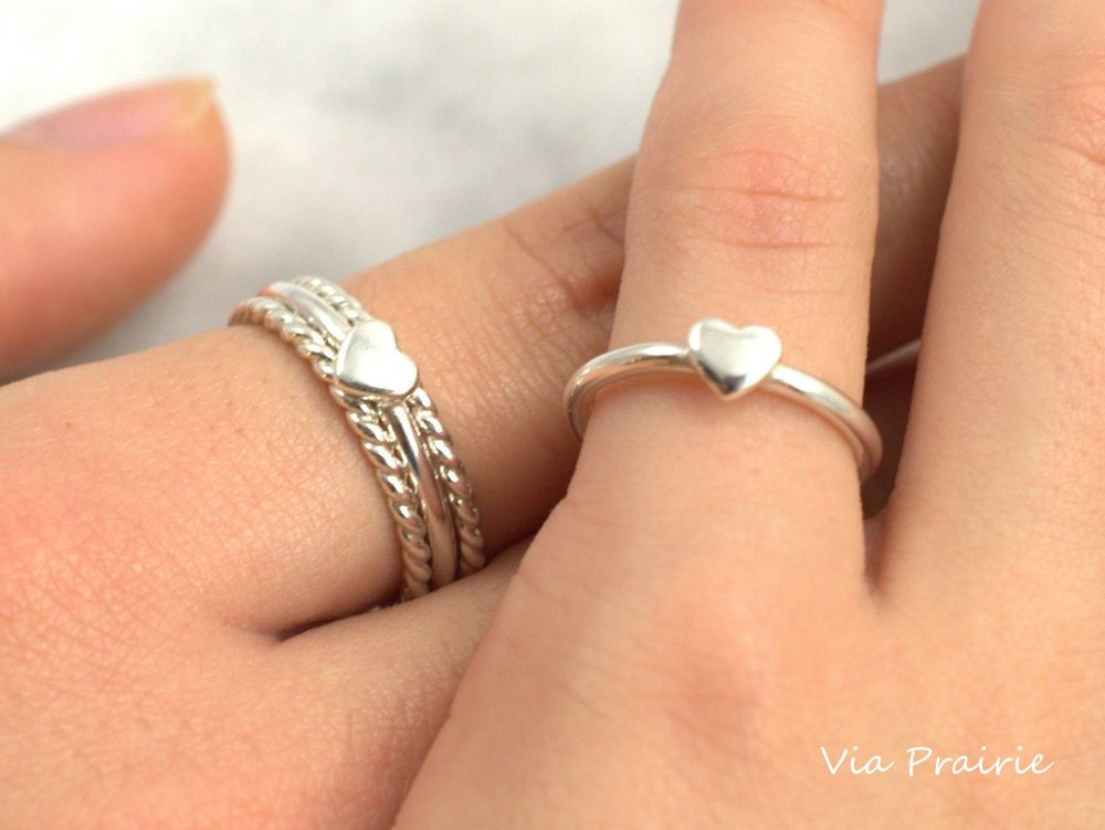 Mom & Baby ring Mother Daughter ring Baby shower gift Mom