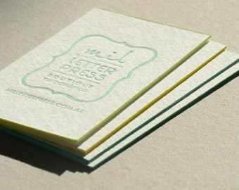 Samples + Simple Shipping - Letterpress Business Cards already printed x 20