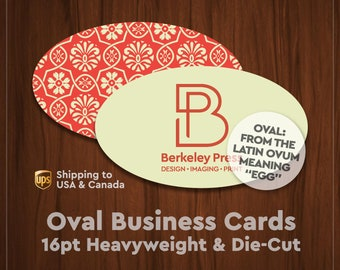 Oval business card etsy business cards 16pt diecut oval shape colourmoves