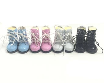 1/6 BJD Doll Shoes for Russian Dolls,Mini Causal Sneakers Shoes 5CM PU Leather Doll Boots for Dolls Accessories,Mini BJD Footwear 5CM