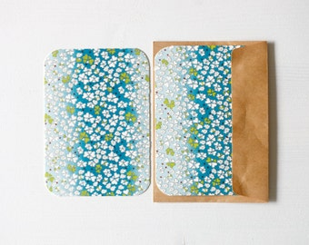 Spring Showers Chiyogami Note Card Set . Save The Date Cards . Invitations . Greeting Cards . no.88