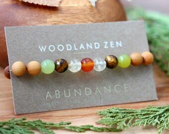 Natural Crystal Gemstone Beaded Bridesmaid Bracelet, Bridesmaid Gifts, Wedding Gift, Crystal Bracelet, Natural Jewelry