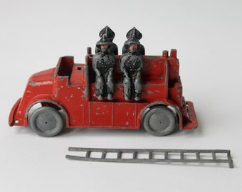 Vintage Betal works toy Fire Truck, Fire Engine. J & H Glasman extremely rare diecast fire truck, fire men and ladder. Rare BETAL works toy.