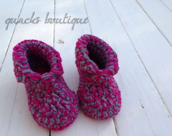 Toddler and Child Handmade Crochet Non-Slip Slippers - Many Colors Available