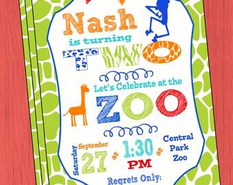 Zoo Birthday Invitation Boys Zoo Birthday Invitation Boys Zoo Birthday Party Invitation