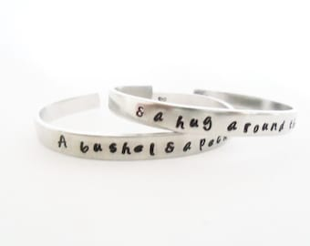 Mother Daughter Friendship Bracelet Set - A Bushel and a Peck - A Pair TWO Bracelets - Friendship Bracelets - Customizable