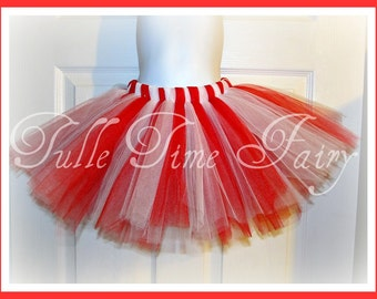 Christmas Candy Cane Red white tutu 6 7 8 or 10