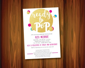 Ready to Pop! Baby Shower Invite
