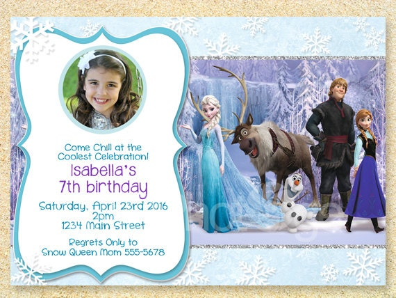 Frozen Invitation Frozen Birthday Invitation Disney Frozen
