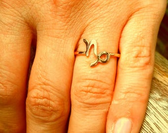 Capricorn Ring-Zodiac Ring-Astrology Ring-Horoscope Ring-925K Silver Handmade Zodiac Capricorn Ring