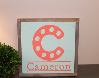 Customizable Letter and Name Sign