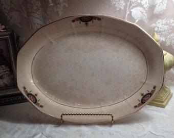 Very Rare Antique Bone China by Albright Platter