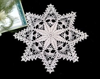 Crochet white doily Hand crochet doilies Coffee Table Doily Crochet centerpiece Crochet table runner Crochet doilies