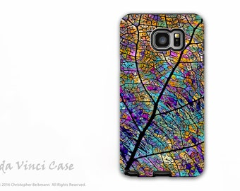 Colorful Case for Samsung Galaxy Note 5 - Beautiful dual layer Note 5 Case with Abstract Aspen Leaf Art - Stained Aspen - by Da Vinci Case