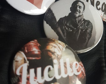The Walking Dead TWD Negan Badges pins