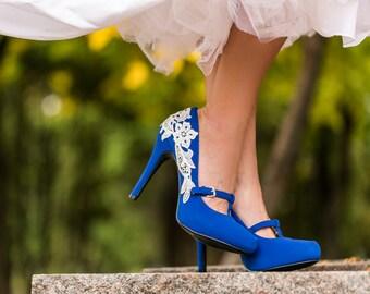 Wedding Shoes Navy Blue Wedding Heels/Bridal Shoes Navy