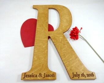 Large Wood Letters Wedding Guest Book Alternatives Big Letters Photo Prop Letters Unique Wedding Guest Book Large Letters For Wall Engraved