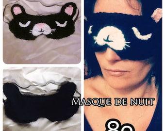 Sleeping mask cat