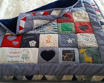 Memories Are Made Of These, Baby Keepsake/Memory Quilts