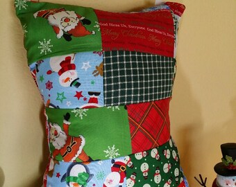 Christmas Patchwork Pillow Too
