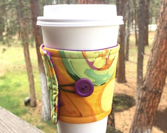 Reusable Coffee Sleeve - Fruits