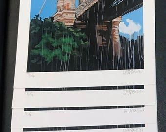 """Brooklyn Bridge Print 15.5""""X11"""""""