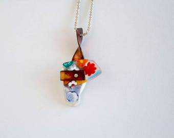 Construction-06 - Mixed Media Necklace