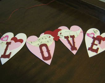 "Love Birds Banner from the ""Hearts on a String"" series"