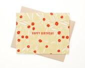 Floral Birthday Card, Hap...