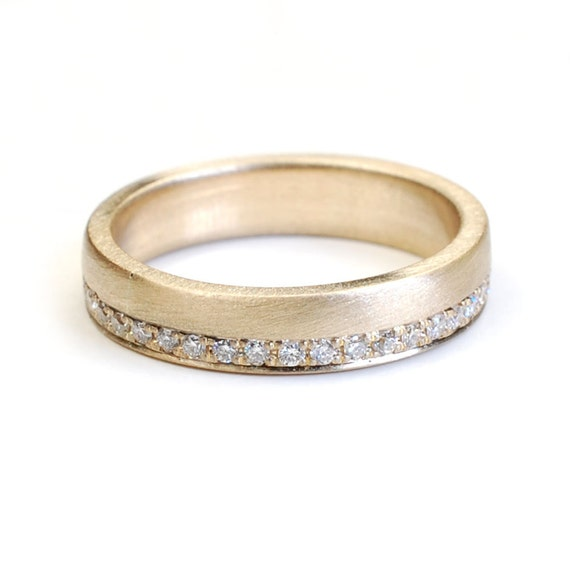Wedding Band Eternity Band Gold and Diamond Wedding Band