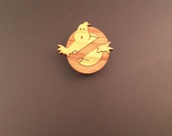 Ghosbusters Magnet - Kitchen Magnet - Fridge Magnet - Ghostbusters Logo Magnet - Wood Magnet - Refrigerator Magnet - Comic Book Decor