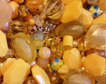 Huge Scoop of Yellow Beads!! Bead Soup * 6 oz.!